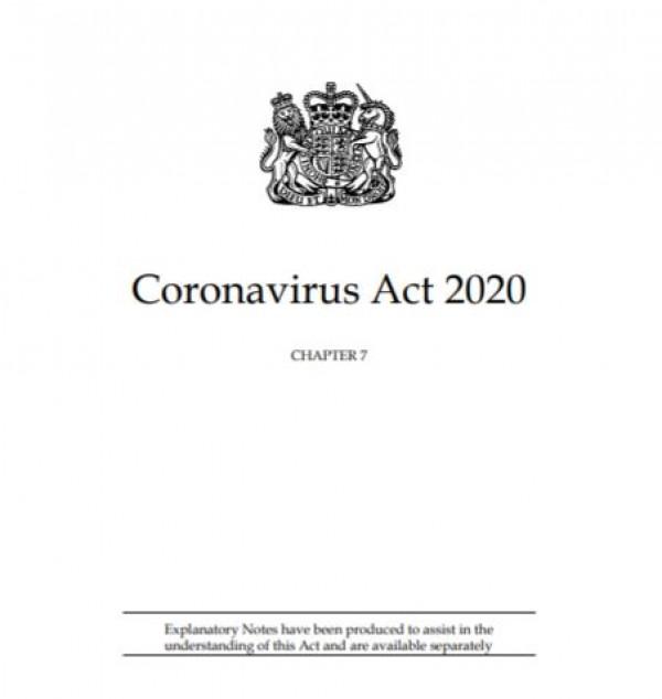 Englannin koronavirusasetus 2020