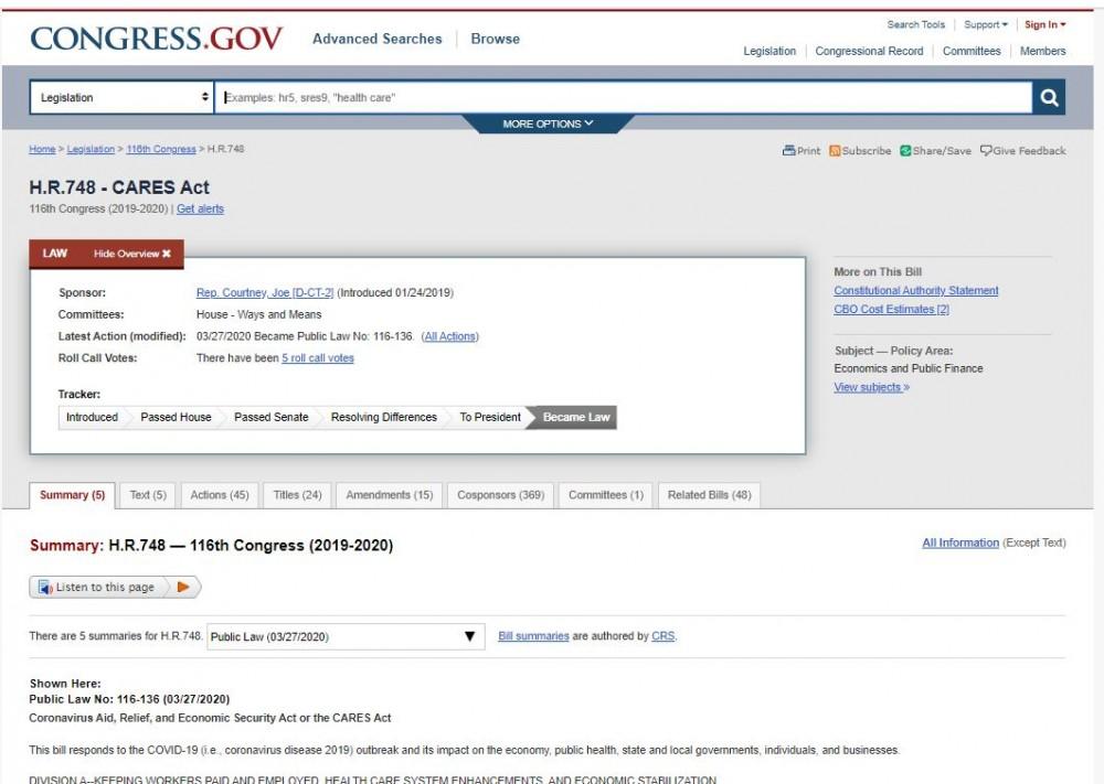 USA:n kongressi teki Covid-19- asetuksen jo noin vuosi ennen koronaa
