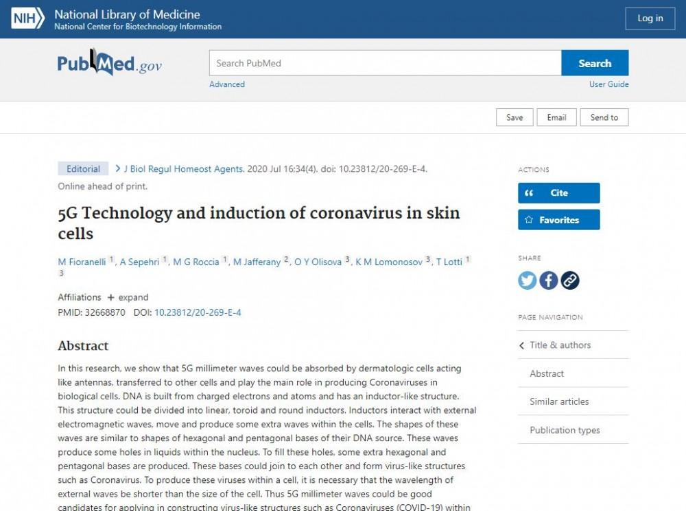 5G & Covid-19: tutkimustodistettu yhteys